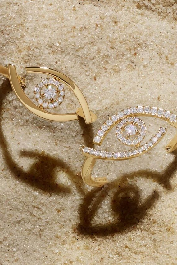 Messika Lucky Eye collection ring Ref. 10036 Ref. 10037 - Mamic 1970
