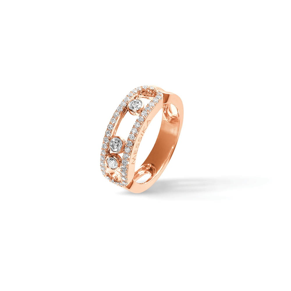 Messika Classic Move Pave Ring in Pink Gold