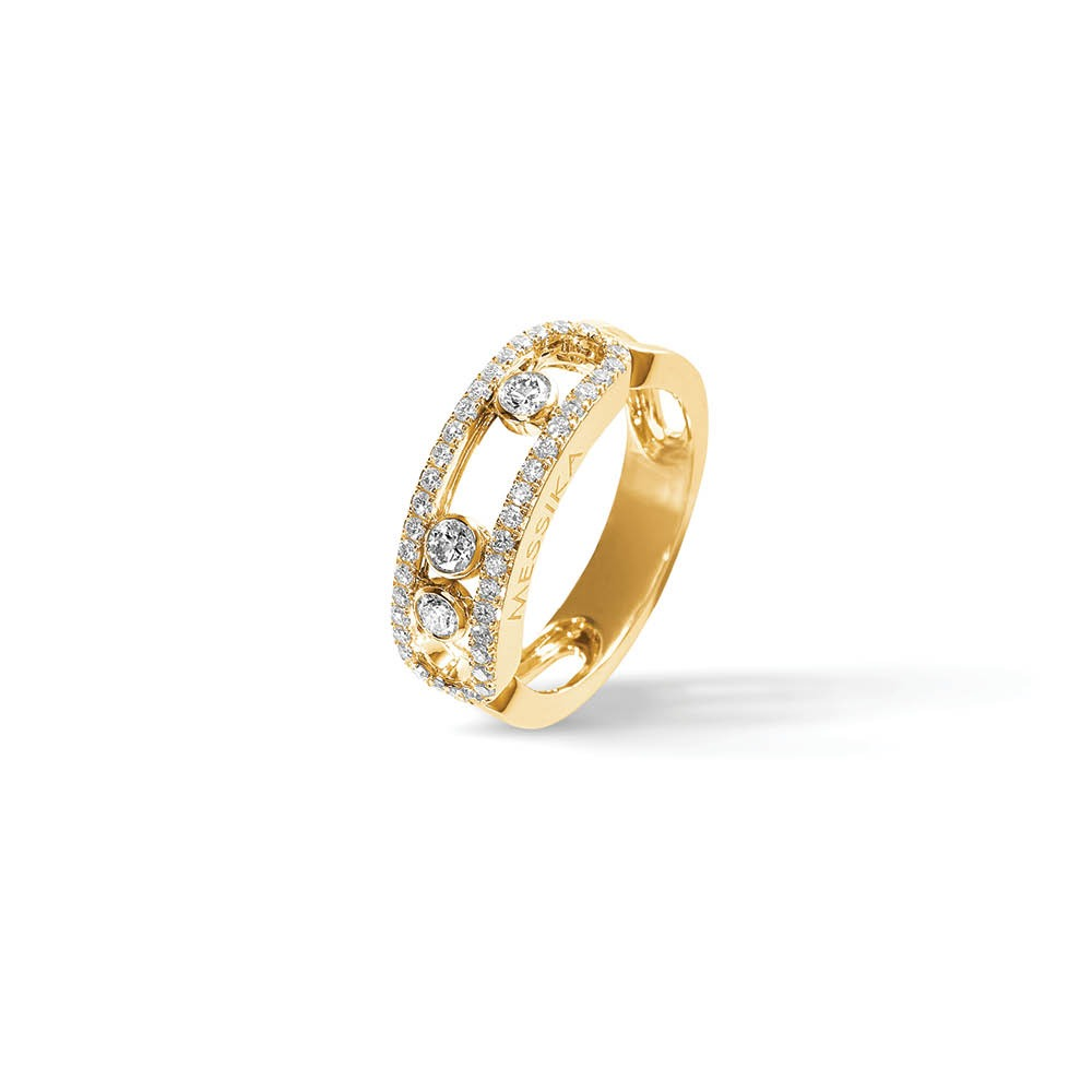 Messika Move Classic Pavee Ring in Yellow Gold