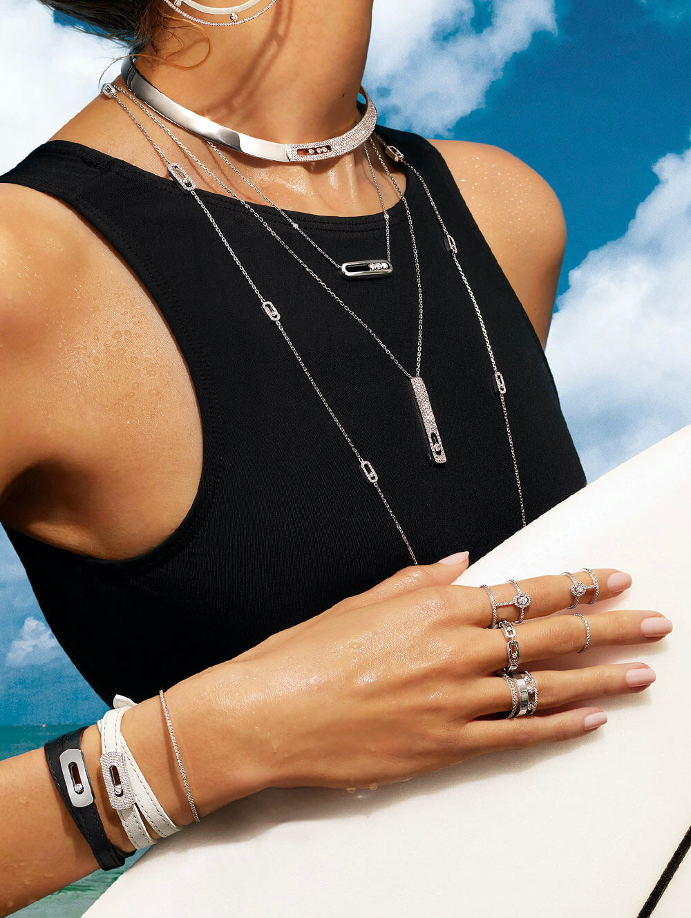 Messika summer diamond necklaces