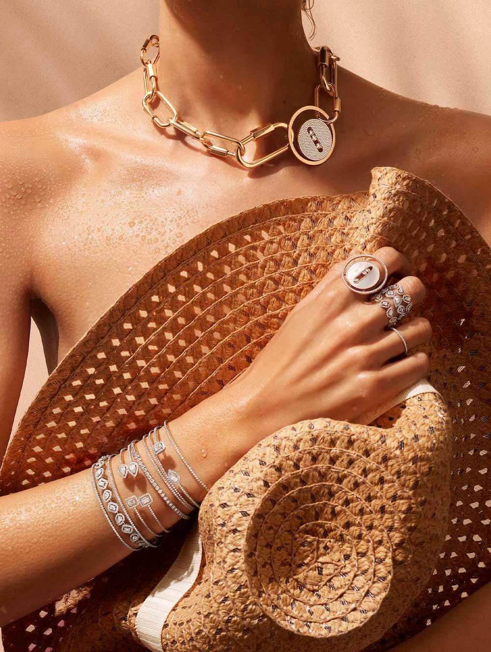 Messika diamond bracelets