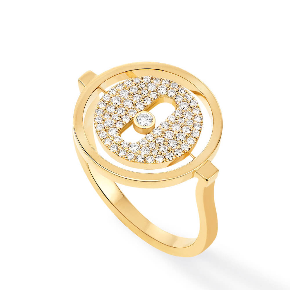 Messika pave Lucky Move ring