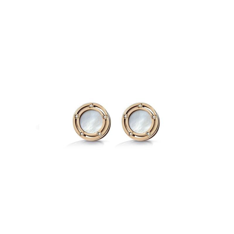 Damiani D.Side mother of pearl earrings